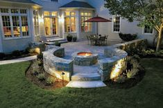 A stone pool deck or patio will add natural beauty and warmth to your backyard landscape. You may choose to incorporate a small patio area to complement your home or install a new pool deck with the style and easy maintenance of pavers. Concrete Patios, Concrete Patio Designs, Backyard Patio Designs, Patio Ideas, Pavers Patio, Porch Ideas, Outside Fire Pits, Fire Pit Backyard, Outdoor Fire