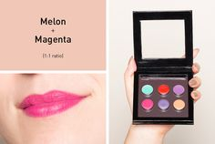 7 DIY Crayon Lipsticks to Make Now | Beautylish | Melon + Magenta [1:1 ratio] makes vibrant pink lipstick