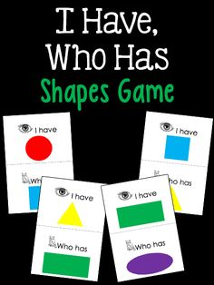 I Have Who Has Shapes Game