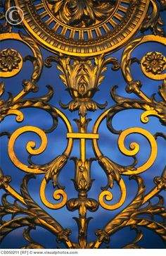 Detail of a gate in the Jardin des Tuileries, Paris I