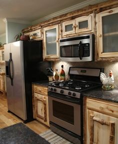 Custom Kitchens - Pure Country Rustic Decor - Handcrafted, Solid Wood, Aspen Log & Metal Furniture