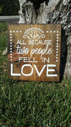 Www.woodlysigns.com Www.instagram.com/woodlysigns #sign #love #fellinlove #anniversary
