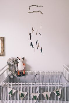 Feather nursery mobile | Black and Hue Photography | 100 Layer Cakelet