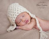 SALE TODAY solid Earflap Hat Newborn Baby by BellaMariesboutique