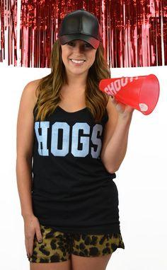 https://belleboutiquenwa.com/razorback-nation/black-sparkle-hogs.html #hogstak #hogs #razorbacks #gohogs