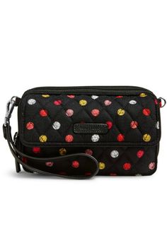 Ever have one of those days when you aren't sure if you need a wallet a wristlet or a cross body? Meet the Vera Bradley RFID All In One Crossbody in the Havana Dots pattern!  It is easily all of those things and more! This amazing little bag has a front magnetic pocket which is a perfect fit for most cell phones including iPhone 6. It also provides RFID protection for credit and debit cards.One zippered compartment houses two slip pockets and a zippered coin pocket. A second zippered…