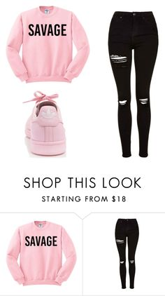 """Untitled #378"" by cuteskyiscute ❤ liked on Polyvore featuring Topshop and adidas"
