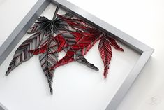 JAPANESE MAPLE No. 2, framed detail. JUDiTH+ROLFE Paper Leaves, Japanese Maple, Paper Artist, Contemporary Artwork, Paper Quilling, Love Art, Paper Cutting, Photo And Video, Crafts