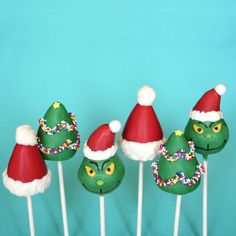 12 Santa Hat Cake Pops  for Christmas party by SweetWhimsyShop, $36.00