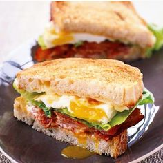 """BLT with a Fried Egg for Breakfast! Yay!  #breakfast  #eggporn"""