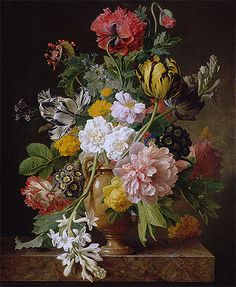 Title: The Broken Tuberose, 1807 Artist: Jan Frans van Dael Medium: Hand-Painted Art Reproduction