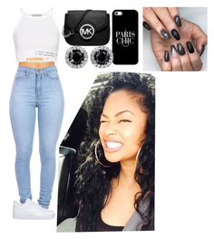 """""""Untitled #284"""" by queen-ayanna on Polyvore featuring Pull&Bear, NIKE, Michael Kors and Casetify"""