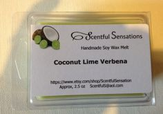 Items similar to Coconut Lime Verbena Soy Scented Wax Melts- Maximum Scented on Etsy