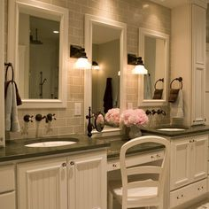 Bathroom Storage And Vanities Design, Pictures, Remodel, Decor and Ideas