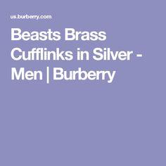Beasts Brass Cufflinks in Silver - Men | Burberry