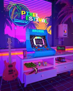 Denny Busyet – Official Site of Visual Artist Denny Budi Susetyo Inspired by / Aesthetics Nostalgia Fueled by Synthwave Purple Aesthetic, Retro Aesthetic, Aesthetic Rooms, Vaporwave, Neon Room, Retro Room, Retro Arcade, Retro Waves, Polychromos