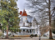 Victorian Style Old House Dusting of Snow by sixkidsandacamera, $25.00