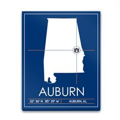 Find it at the Foundary - Auburn University Map Wall Art