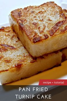 The Best Pan Fried Turnip Cake Recipe Asian Snacks, Asian Desserts, Asian Recipes, Chinese Desserts, Chinese Food, Chinese Cake, Chinese Recipes, Dim Sum, Turnip Recipes