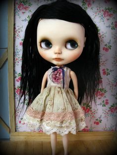 Long stemmed blooms.  A dress for Blythe