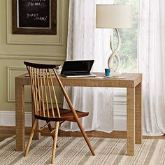 Parsons Desk - Natural Grass Cloth #WestElm