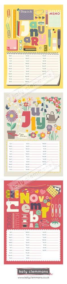 Katy Clemmans 2014 calendar sneak peek. www.katyclemmans.co.uk