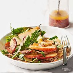 Bacon & Pear Autumn Salad - Any ripe pear will work for this salad. We love Anjou, which is juicy and firm./