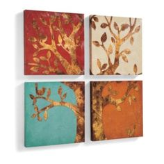 Set of Four Seasons Artwork
