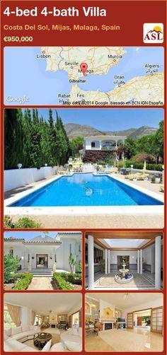 4-bed 4-bath Villa in Costa Del Sol, Mijas, Malaga, Spain ►€950,000 #PropertyForSaleInSpain