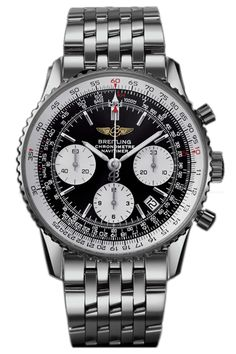 Breitling Navitimer Automatic Chronograph 18K Men's White Gold Watch J2332212/B635-431J