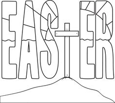 activity village coloring pages easter religious | Cross L-65 | Color My World | Easter colouring, Easter ...