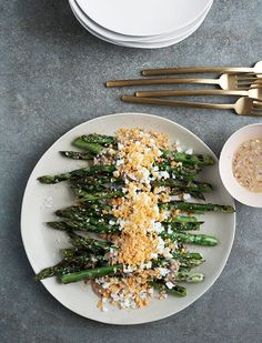 This retro side dish is one of our favorite ways to serve asparagus. Perfect for brunch, a light lunch, or as a side for dinner, this combo is a classic for good reason.