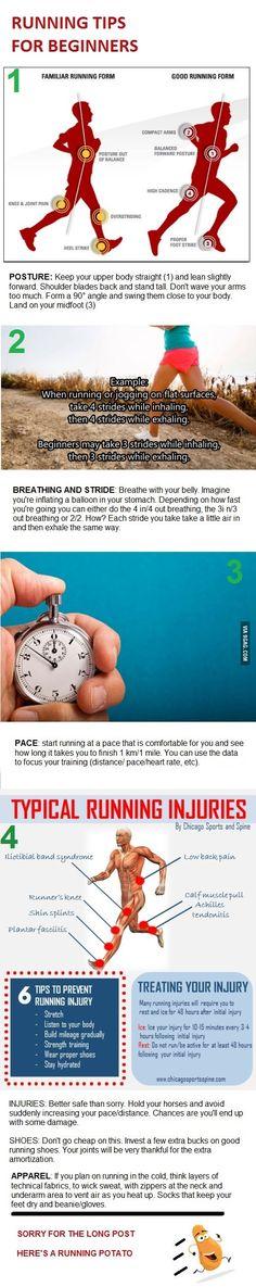 Four basic running tips for beginners.