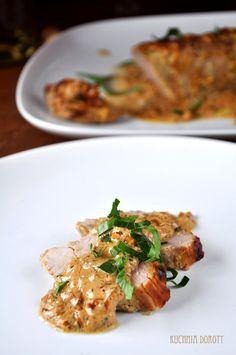 Polędwica Wieprzowa Dijon – Kuchnia Doroty Ham And Cheese, Risotto, Chicken, Cooking, Ethnic Recipes, Food, Decor, Diet, Kitchen
