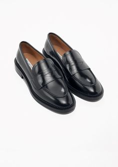 half off 5f116 0d8a9 Other Stories image 2 of Round Toe Loafer in Black Loafer Shoes, Oxfords,