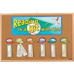 Baseball themed classroom - Reading is a Hit with Us $10.99 sale