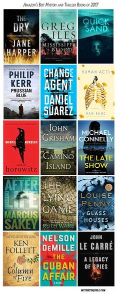 Amazon's best mysteries and thrillers for 2017