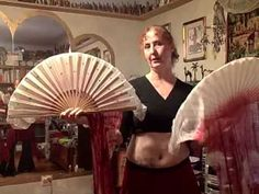 Yasmina's Weekly Belly Dance Lesson - lesson 2, fan veil - YouTube. Ooh, I just got some fan veils!