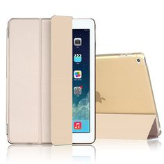 Case for Apple ipad 2 / 3 / 4 ultrathin flip four foldings stand PU leather tablet PC smart sleep Cover shell capa coque para