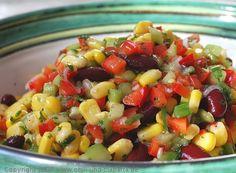 Chili und Ciabatta: Bunter Maissalat mit Kidneybohnen