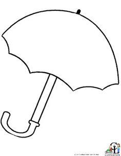 Large Umbrella Template  Umbrella Outline Black And White