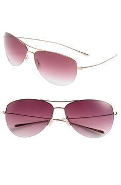 eaf041534f Oliver Peoples  Strummer  63mm Metal Aviator Sunglasses