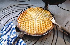 Baked Pancakes, Pancakes And Waffles, Norwegian Food, Scandinavian Food, Waffle Iron, Healthy Sweets, Chocolate Desserts, Let Them Eat Cake, Cake Recipes