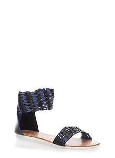 Open Toe Sandals with Woven Ankle Strap