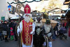 Nikolaus und Krampus Advent, Berg, Wanderlust