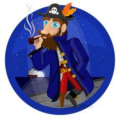 Pirate Illustration #adobeillustrator #illustration #pirate #pirates #character #characterdesign