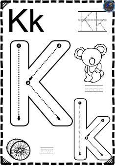 Letter Worksheets For Preschool, Fall Preschool Activities, Preschool Writing, Preschool Curriculum, Alphabet Activities, Kindergarten Math Worksheets, Alphabet Writing, Teaching The Alphabet, Spanish Lessons For Kids