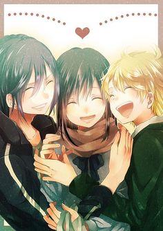 Noragami, Yato, Yukine, and Iki Hiyori Anime Noragami, Noragami Bishamon, Yato And Hiyori, Manga Anime, Chibi, Otaku, Yatori, Fangirl, Estilo Anime
