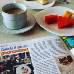 Café da manhã com leitura leve. #VivaBem #Tocantins
