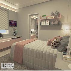 Eu sou louca por todos os quartos feitos pelo arquiteto Daniel Kroth amooo! @decoreinteriores.